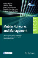 Mobile Networks and Management Conference On Mobile Networks And Management Monami
