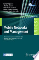 Mobile Networks and Management Conference On Mobile Networks And