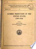 Lumber Production in the United States  1799 1946