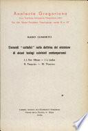 Elementi  cattolici  nella dottrina del ministero di alcuni teologi calvinisti contemporanei