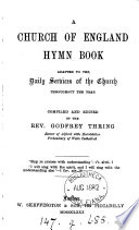 A Church of England hymn book  compiled and ed  by G  Thring