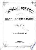 Saborski dnevnik Sabora kraljevinah Hrvatske, Slavonije i Dalmacije