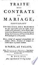 Trait   des contrats de mariage  by   Gu  rin du Tubermont   contenant un recueil des maximes les plus approuv  es pour les regler      Seconde   dition   Revu     et augment    etc