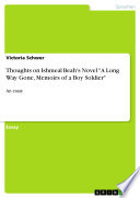 Thoughts on Ishmeal Beah s Novel  A Long Way Gone  Memoirs of a Boy Soldier