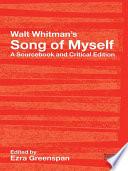 Walt Whitman S Song Of Myself book