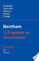 Bentham  A Fragment on Government