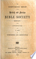 Reports Of The British And Foreign Bible Society