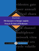 Routledge French Technical Dictionary Dictionnaire Technique Anglais Of Some 100 000 Keywords In
