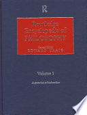 Routledge Encyclopedia of Philosophy: Descartes to gender and science