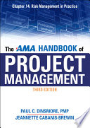 The AMA Handbook of Project Management Chapter 14  Risk Management in Practice