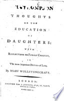 Thoughts On The Education Of Daughters