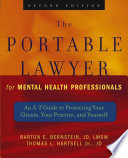 The Portable Lawyer For Mental Health Professionals