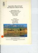 Aquaculture Research and Development in Rural Africa