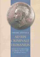 Ad Ius Criminale Humanius