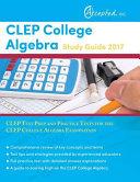 CLEP College Algebra Study Guide 2017