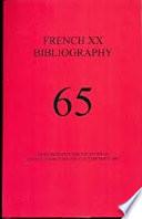 French XX Bibliography 65