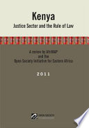Kenya  Justice Sector and the Rule of Law