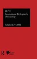 International Bibliography Of The Social Sciences  Socialogy