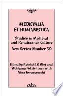 Medievalia et Humanistica  No  39