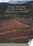 Stable Isotopes As Indicators Of Ecological Change book