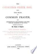 The Convocation Prayer Book