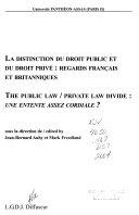 La Distinction Du Droit Public Et Du Droit Priv