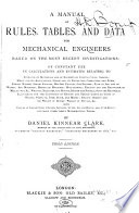 A Manual Of Rules Tables And Data For Mechanical Engineers