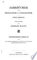 Neue Jahrbücher für Philologie und Pädogogik