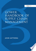 Gower Handbook of Supply Chain Management