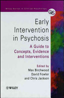 Early Intervention in Psychosis