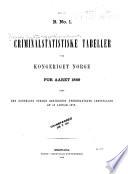 Criminalstatistiske tabeller for kongeriget Norge for aaret     samt den kongelige norske regjerings underdanigste indstilling af 3 januar 1863  30 november 1880