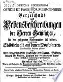 Diptycha ecclesiarum in oppidis et pagis Norimbergensibus
