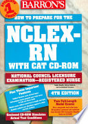 Barron s how to Prepare for the NCLEX RN with CAT CD ROM