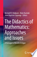 The Didactics of Mathematics  Approaches and Issues