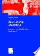 Relationship Marketing im Firmenkundengesch  ft