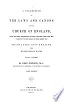 A collection of the laws and canons of the Church of England
