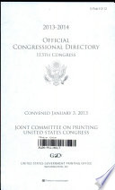 Official Congressional Directory 113th Congress  2013 2014