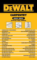 Dewalt Carpentry Quick Check