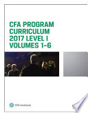 CFA Program Curriculum 2017 Level I