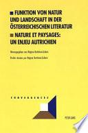 Funktion von Natur und Landschaft in der österreichischen Literatur