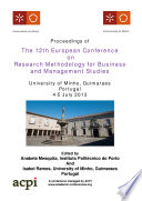 Ecrm2013 Proceedings Of The 12th European Conference On Research Methods book