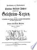 Allgemeines Gelehrten-Lexicon