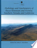 Hydrology and Geochemistry of Yucca Mountain and Vicinity  Southern Nevada and California