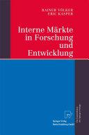 Interne Märkte in Forschung und Entwicklung