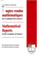 Comptes Rendus Mathématiques de L'Académie Des Sciences