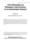 Conference On Probability And Statistics In Atmospheric Sciences book