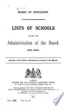 List of Schools Under the Administration of the Board