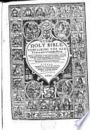 The Holy Bible, Etc. B.L.