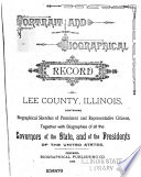 Portrait and Biographical Record of Lee County  Illinois