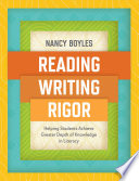 Reading Writing And Rigor